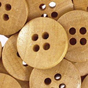 Botão de madeira liso