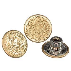 3 botões de metal fixo eberle