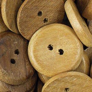 Botão de madeira cor cerejeira