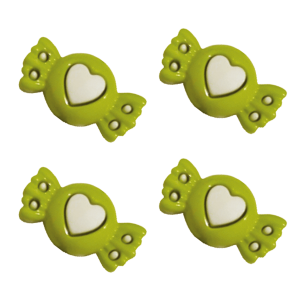 Botão Infantil Bombom 18g verde