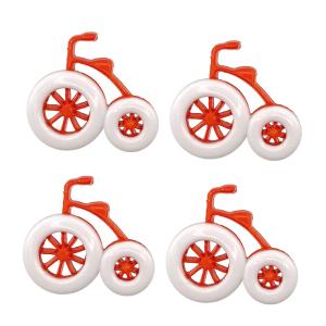 Botão Triciclo 25 Branco/Laranja