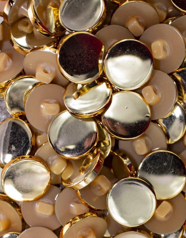 botão com efeito cromado na cor Dourada